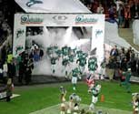 CO2 jet special effects at the NFL in London