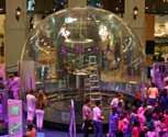 An inflatable Faraday Cage and lightning dome in Dubai