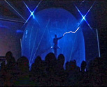 This Lightning Man stunt was operated by MTFX inside our inflatable Faraday cage.