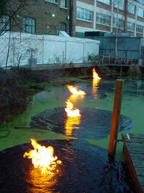 Fire on water special effects