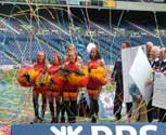 Streamer special effects at the RBS Six Nations celebrations at Murrayfield