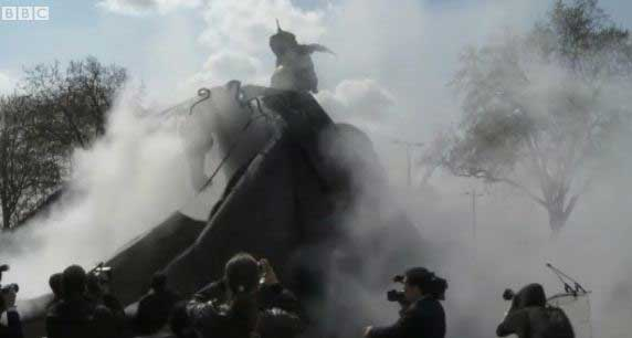Smoke special effects for the Ghengis Khan statue unveiling in London