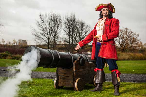 Smoke special effects and pirate cannon for a Captain Morgan rum promotion