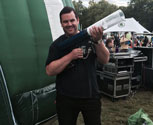 T Shirt Gun at Tour De France with Technician Andy!