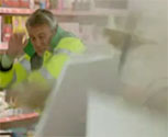 The pyrotechnic sparks and falling debris were provided by MTFX for this episode of Trollied