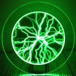 Round Plasma Panel - Green
